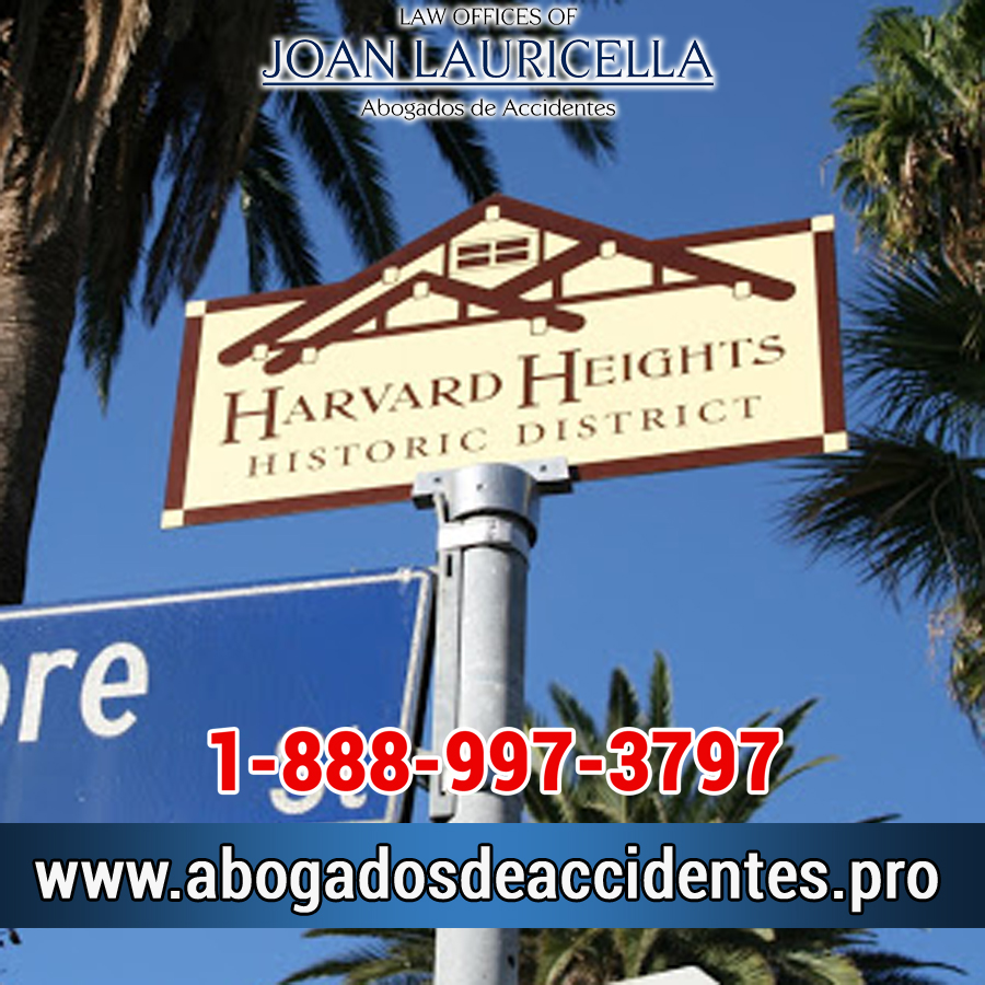 Abogados de Accidente en Harvard Heights CA