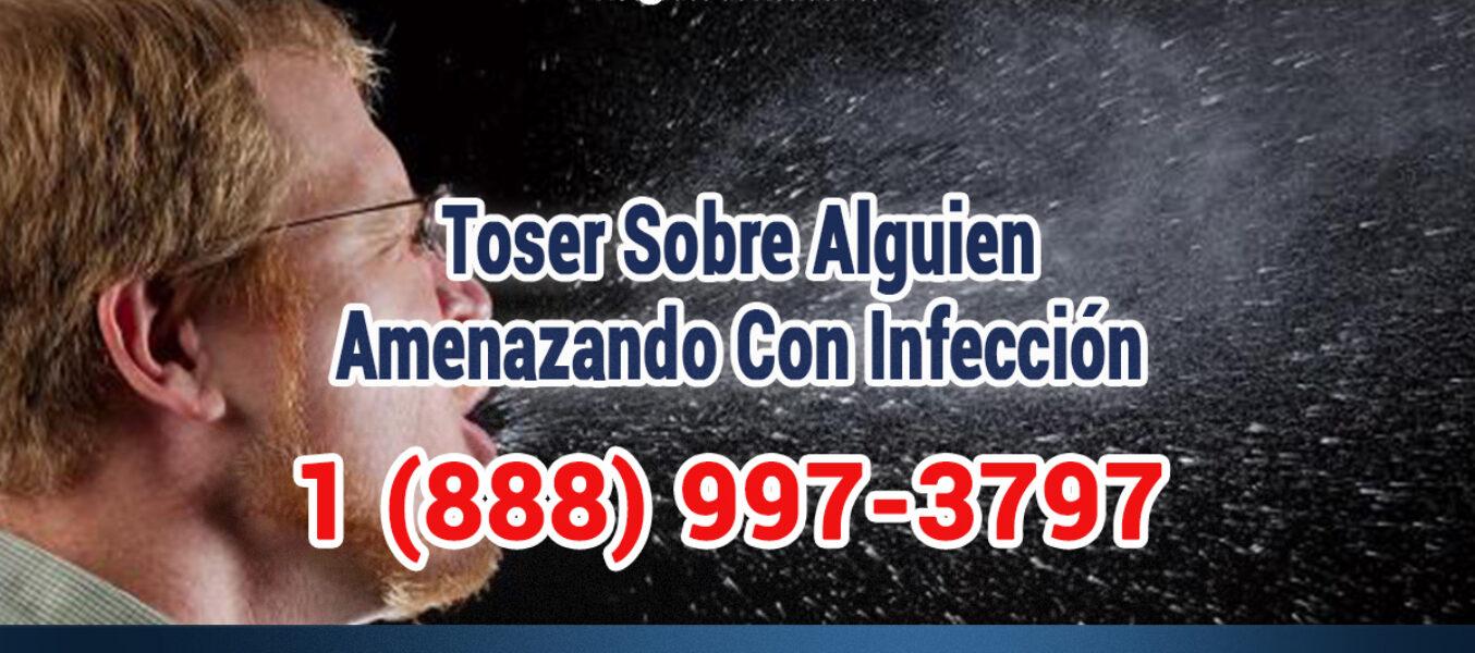 No toser sobre alguien y Amenazar con tener infección en Los Angeles