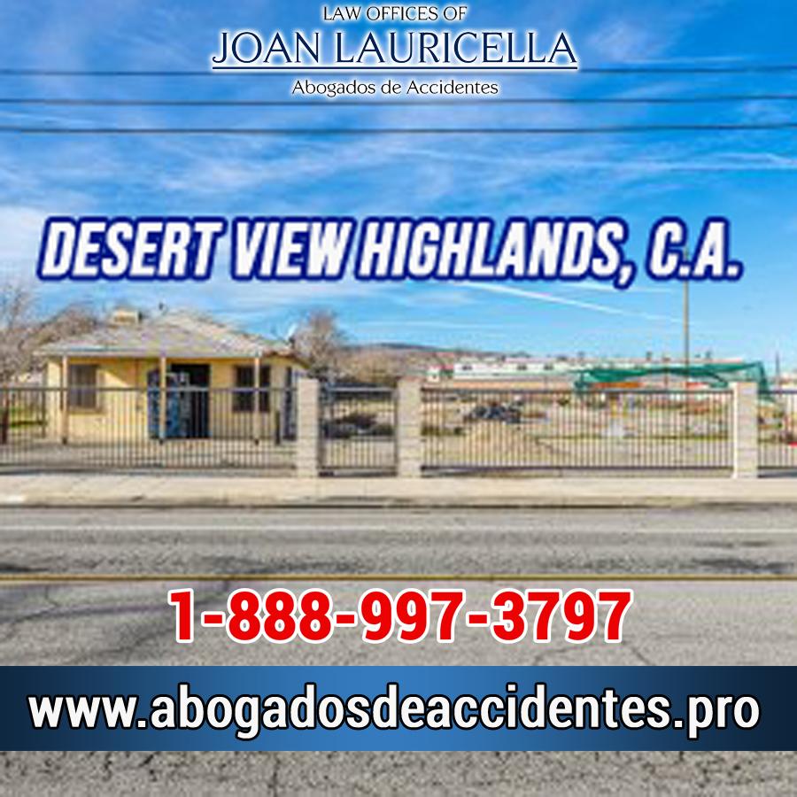 Abogados de Accidentes en Desert View Highlands